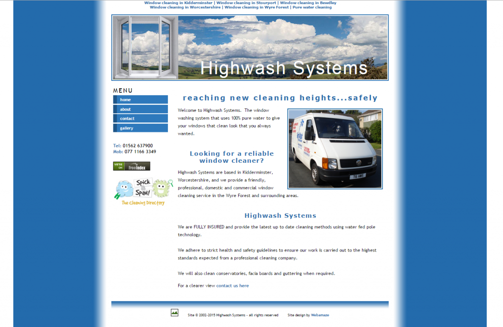 Highwash Systems : www.highwashsystems.co.uk